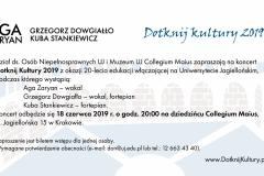 Dotknij Kultury 2019 zaproszenie2_studio nośne Agnieszka Bernas